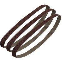 PTX 80 Grit Sanding Belt (W) 13mm (L) 451mm  Pack of 3