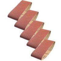 PTX Mixed Grit Sanding Belt (W) 75mm (L) 457mm  Pack of 5