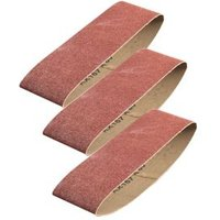 PTX Medium Sanding belt set (W)75mm (L)533mm Pack of 3