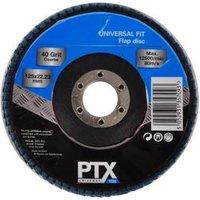 PTX 40 Grit Flap Disc (Dia)115mm Of 1