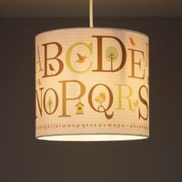 Colours Multicolour Alphabet Light Shade (D)250mm
