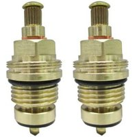 Plumbsure Brass Thread Tap gland With Rubber Seal Threaded Collar (Thread)1/2 (Dia)8mm Set of 2