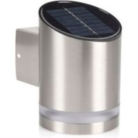 Blooma Midas Chrome Effect Solar Powered LED Wall Light