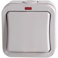 Diall 20A 2-Way Single Grey Outdoor Switch