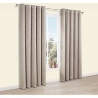 Thornbury Shrewmouse Chenille Eyelet Lined Curtains (W)117 cm (L)137 cm