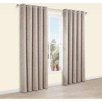 Thornbury Shrewmouse Chenille Eyelet Lined Curtains (W)167 cm (L)228 cm
