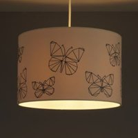 Colours Limia Cream Butterfly stitched Light shade (D)300mm