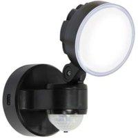 Blooma Stata Black 8W Mains Powered External Pir Security Light