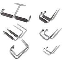 Grey Powder Coated Steel Storage Hooks  Pack of 12