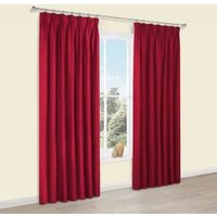 Prestige Flame Plain Pencil Pleat Lined Curtains (W)117 cm (L)137 cm