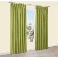 Prestige Chlorophyll Plain Pencil Pleat Lined Curtains (W)167 cm (L)228 cm
