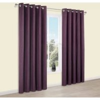 Durene Purple Plain Blackout Eyelet Blackout Curtains (W)117 cm (L)137 cm