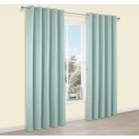 Durene Duck egg Plain Blackout Eyelet Blackout Curtains (W)167 cm (L)228 cm