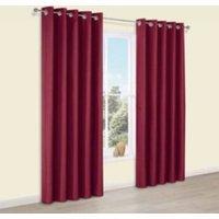 Edlyn Red Plain Faux silk Eyelet Blackout Curtains (W)117 cm (L)137 cm