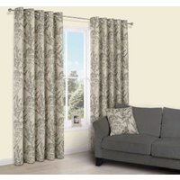 Charde Brown Meadow Print Eyelet Lined Curtains (W)117 cm (L)137 cm