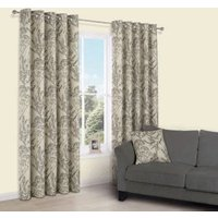 Charde Brown Meadow Print Eyelet Lined Curtains (W)167 cm (L)228 cm