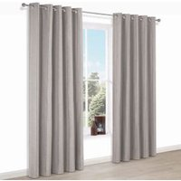 Enara Brown Pinstripe Jacquard Eyelet Lined Curtains (W)167 cm (L)228 cm