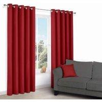 Zen Flame Plain Eyelet Curtains (W)167 cm (L)228 cm