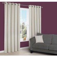 Cherelle Limestone Stripe Eyelet Lined Curtains (W)167 cm (L)228 cm