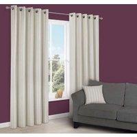 Cherelle Limestone Stripe Eyelet Lined Curtains (W)228 cm (L)228 cm