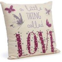 Darnesha Love' Cream & Purple Cushion