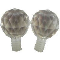 Antique Brass Effect Acrylic Curtain Finial (Dia)19mm  Pack of 2