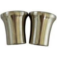 Stainless Steel Effect Metal Curtain Finial (Dia)28mm  Pack of 2