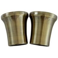 Antique Brass Effect Metal Curtain Finial (Dia)28mm  Pack of 2