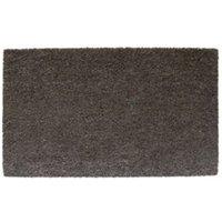 Diall Grey Plain Printed Coir Door Mat (L)750mm (W)450mm