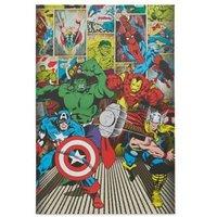 Marvel Avenger Multicolour Canvas art (H)900mm (W)600mm
