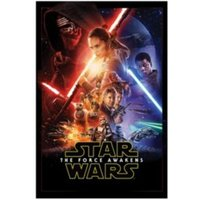 Star Wars: The Force Awakens Multicolour Movie Poster Canvas Print (W)600mm (H)900mm
