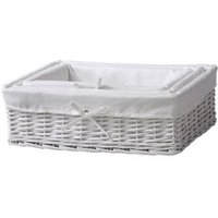 White 3L Willow Nestable Storage box  Pack of 3