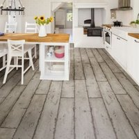 Colours Grey Washed wood effect Waterproof Luxury vinyl click flooring Sample