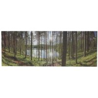Forest Multicolour Printing canvas (W)450mm (H)450mm