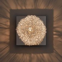 Electro Wire Ball Chrome Effect Single Wall Light