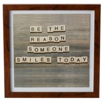 Be The Reason Someone Smiles Today Framed Print (W)328mm (H)240mm