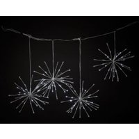 4 White LED Sparkle Ball String Lights
