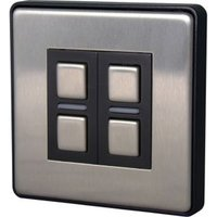 Lightwave 2-Way Brushed Smart Dimmer Switch of 1