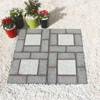 Dark/Light Grey Granite Cobble Mat Square (L)400 (W)400mm Pack of 100