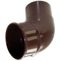FloPlast Round 112.5 ° Gutter downpipe offset bend (Dia)68mm  Brown