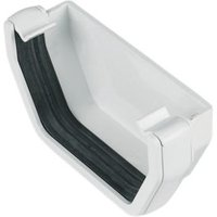 FloPlast Square Gutter external stop end (W)114 mm  White