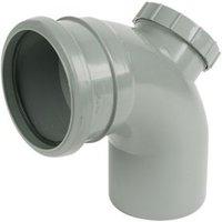FloPlast Ring Seal Soil Access bend (Dia)110mm  Grey