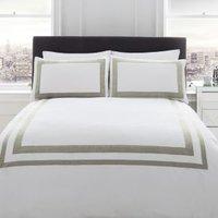 Racing Green Signature Norada Border stripe White King size Bed set