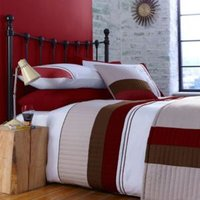 Chartwell Boston Striped Red Single Bed Cover Set