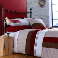 Chartwell Boston Striped Red Double Bed Cover Set