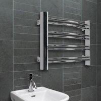Acute Mirror Chrome Towel Radiator (H)420mm (W)600mm