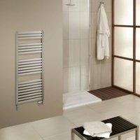 Cooke & Lewis Piro Brushed steel Towel rail (H)1200mm (W)550mm