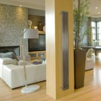 Lynix Vertical Radiator Brushed (H)2000 mm (W)255 mm