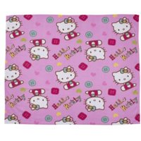 Hello Kitty Pink & White Fleece Blanket