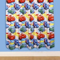 Disney Blue and Red Cars Pencil Pleat Childrens Curtains (W)168cm (L)137cm